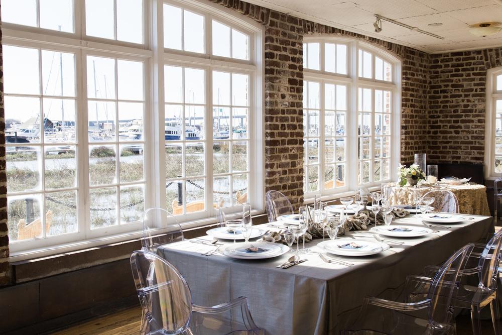charleston wedding planner scarlet plan & design | nautical coastal wedding escort cards at historic rice mill | revolution wedding tours