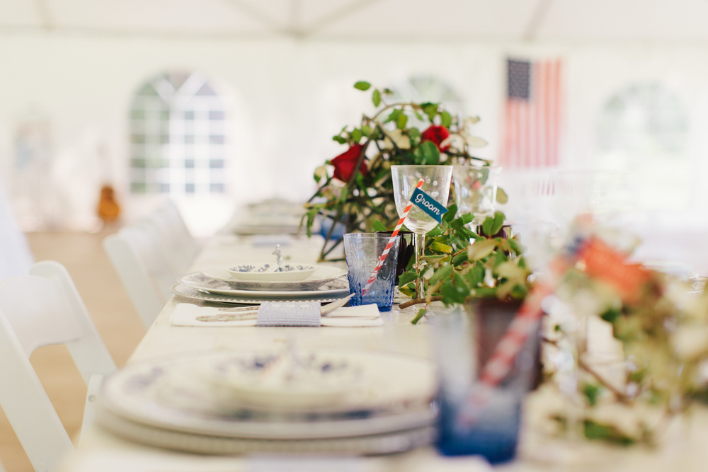 army air force military all american red, white & blue wedding place cards escort cards | charleston wedding planner scarlet plan & design at wingate plantation