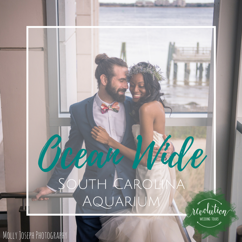 coastal ocean wedding at south carolina aquarium by scarlet plan & design