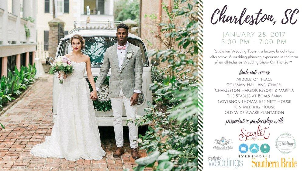 Charleston Mega Revolution Wedding Tour | bridal show alternative