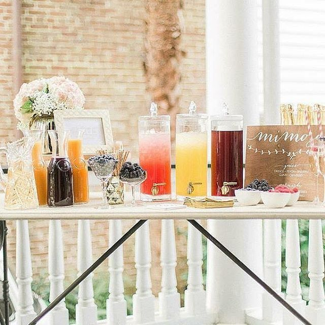 If #brunch calls for #mimosas then a #BrunchWedding absolutely calls for a #mimosa bar! Don't you agree?! We're still completely obsessed with our #RevWeds #BreakfastInBed #wedding design from The Parsonage in #Charleston with soft, #springwedding colors and loads of fun details! Planning, design and styling by @scarletplandesign  Photographer @catherine_ann_photography  #MimosaBar by @flutechs  Venue The Parsonage Florals @flowercottagesc  Tap the photo for complete vendor credits and see the full gallery on our website! . . . . #charlestonwedding #charlestonweddings #weddingplanner #atlantawedding #greenvillewedding #atlanta #Greenville #destinationwedding #scarletweds