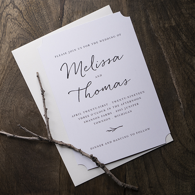 WEATHERED TWIG INVITATION by Basic Invite