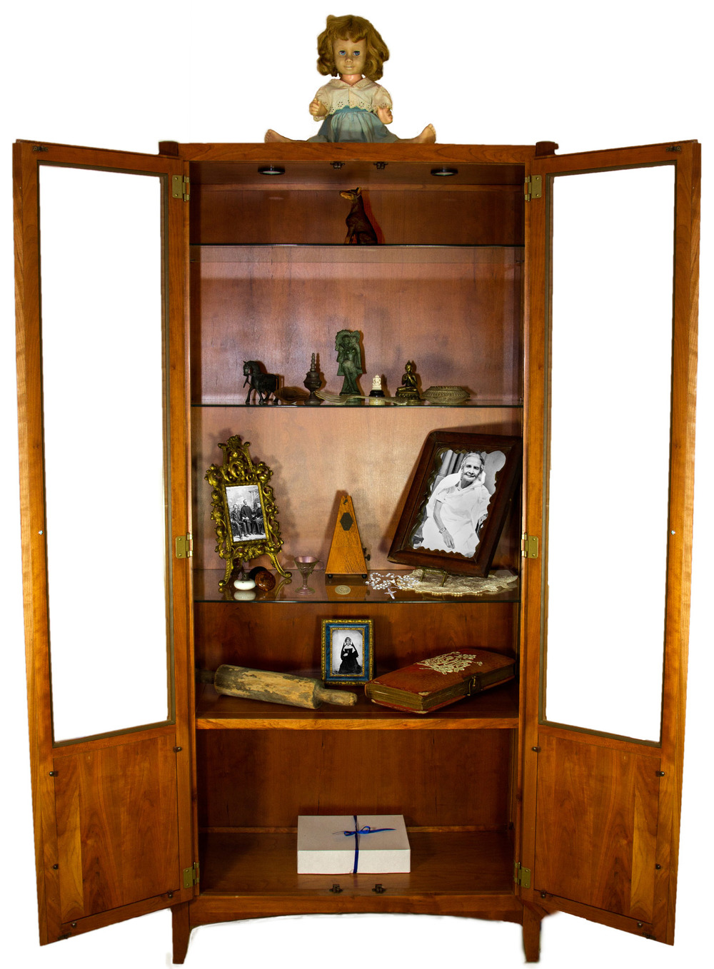 She Walked To The Natural Cherry Wood China Cabinet In The Corner Of Her  Casita, Reached Up To Switch On The Cabinet Lighting, And Stood Looking  Through The ...