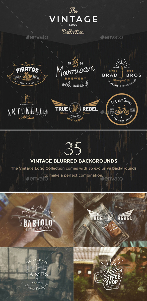The Vintage Logo & Badge Collection via Graphicriver.net