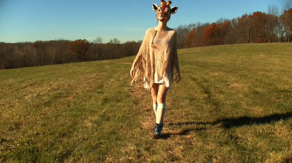 Video still from original version of 'Giraffe World' (2010).