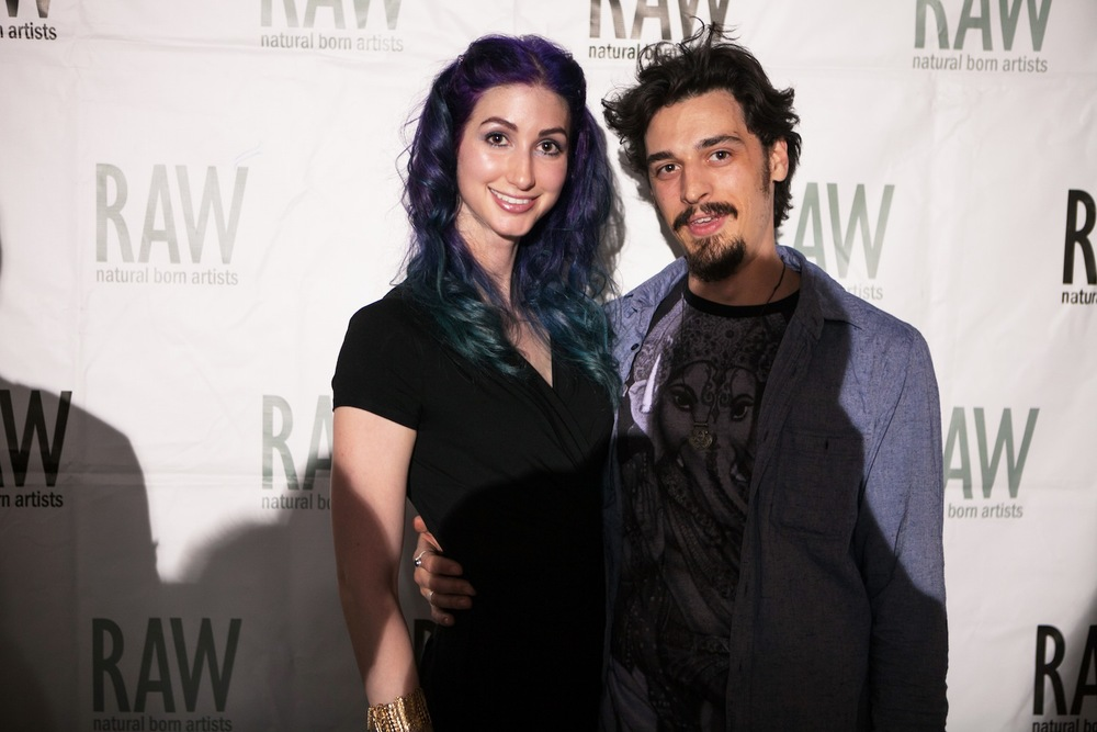Geena Matuson and Steve Anthony at RAW Artists 'Revolution' event, May 2014. Photographed by Greg Caparell Photography.