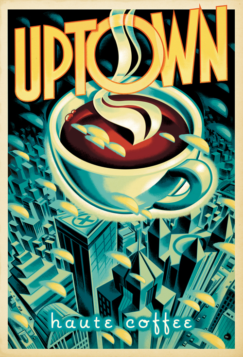Mark Bender,  Uptown Coffee Poster Art