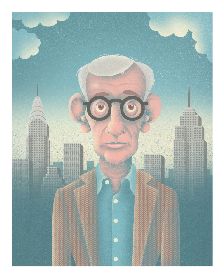 Paul Donnison,  Woody Allen Portrait