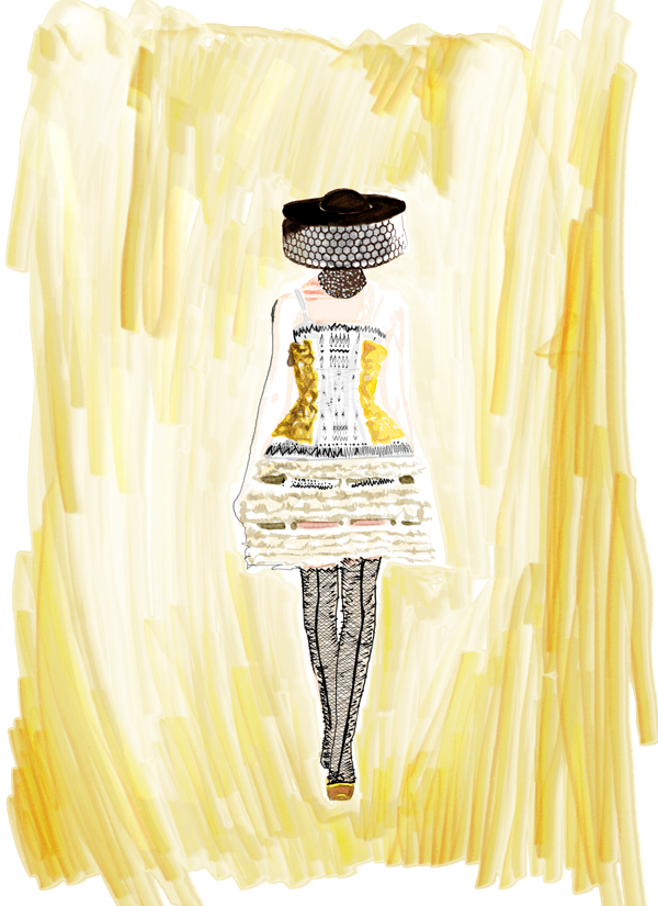 Joe Tin Illustration,  Alexander McQueen x Joe Tin Illustration