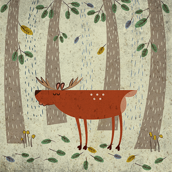 Anna Sztromwasser,  Scotland Inspired Deer In Its Natural Habitat