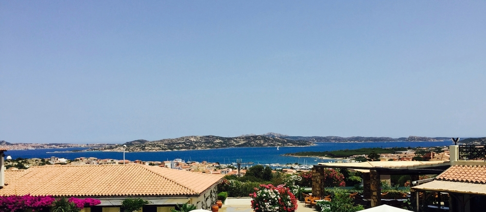 View from our hotel room in Palau, Sardinia