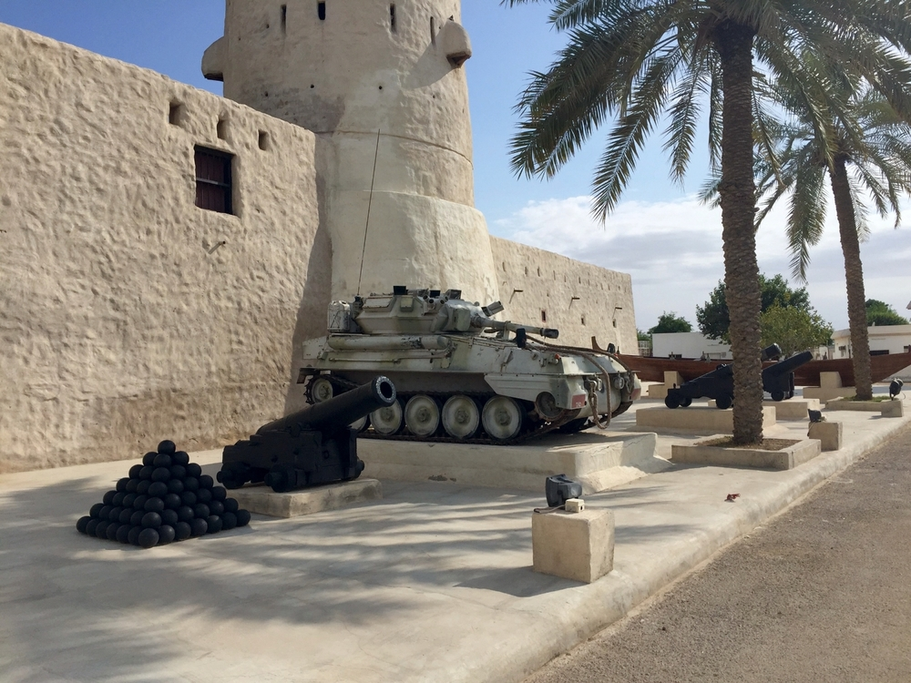 Tank and canons outside of the national museum
