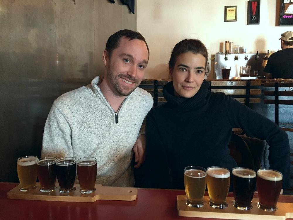 Beer flights at Nano 108, Colorado Springs, Colorado