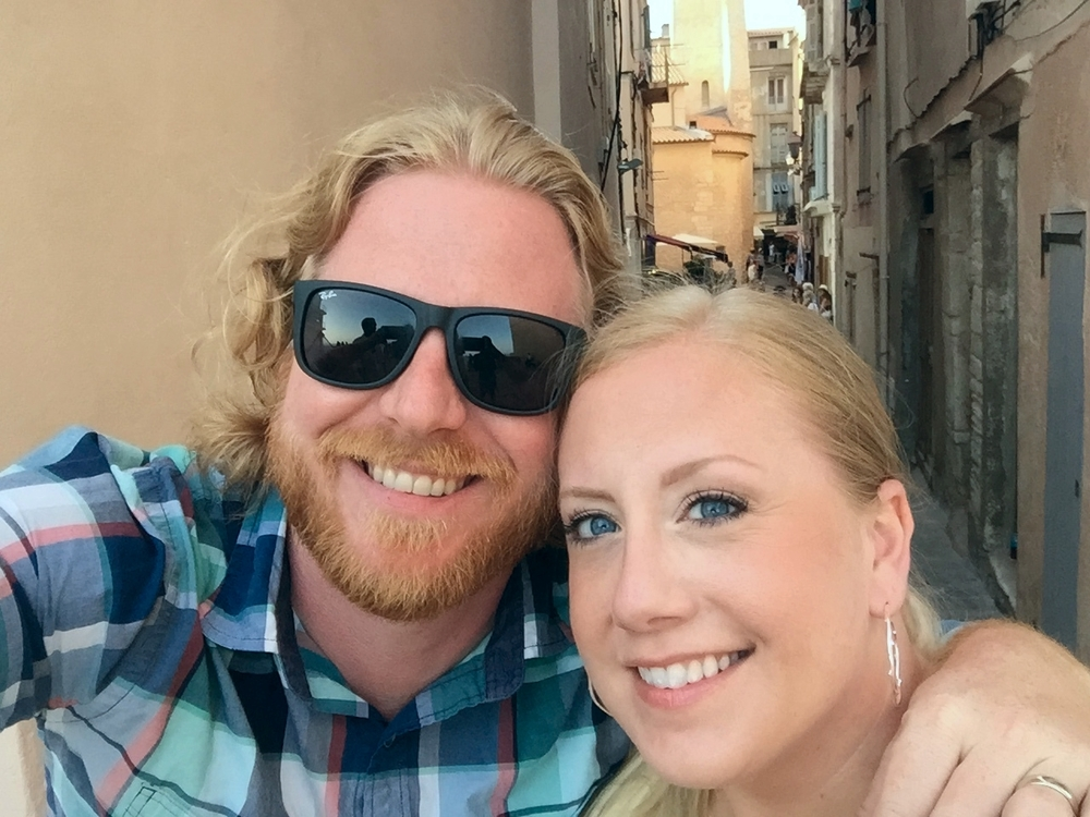 Rob and Danielle in Bonifacio, Corsica