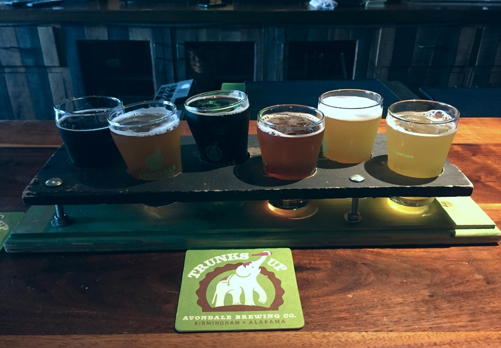 My flight at Avondale Brewing Company