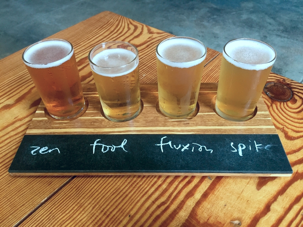 My flight at Rhinegeist Brewing Company