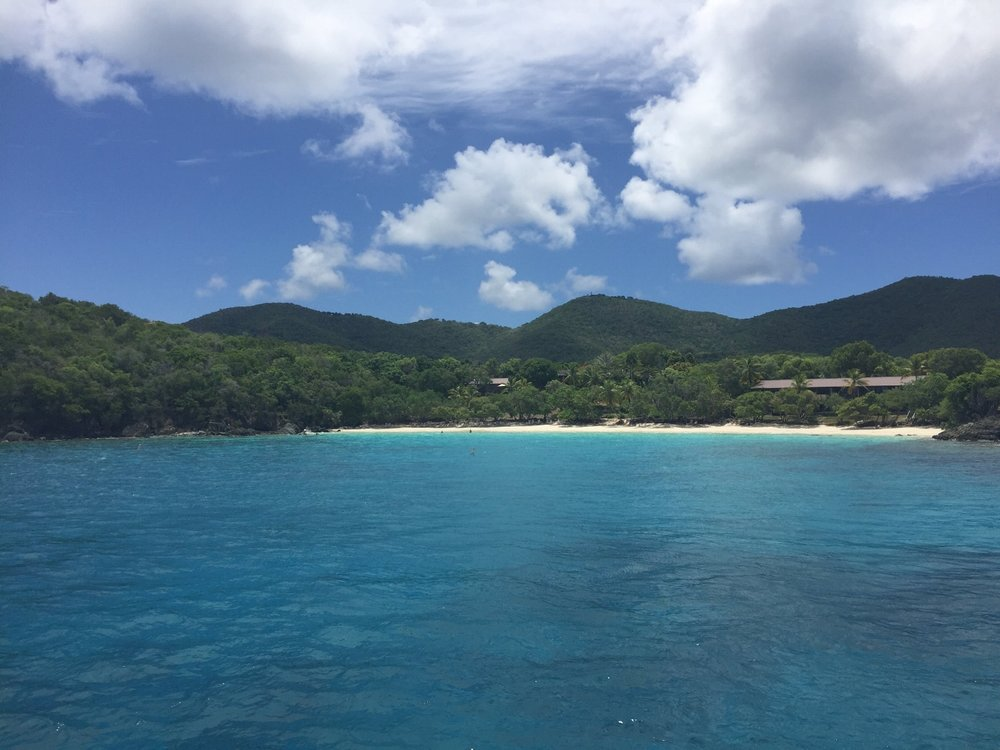 One of the many stunning beaches of St. John