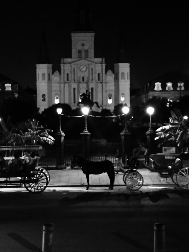 Jackson Square on Halloween night