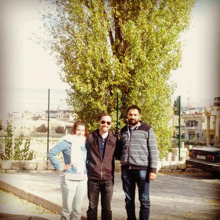 Carrie, Albert, and Ahmad at Baalbek