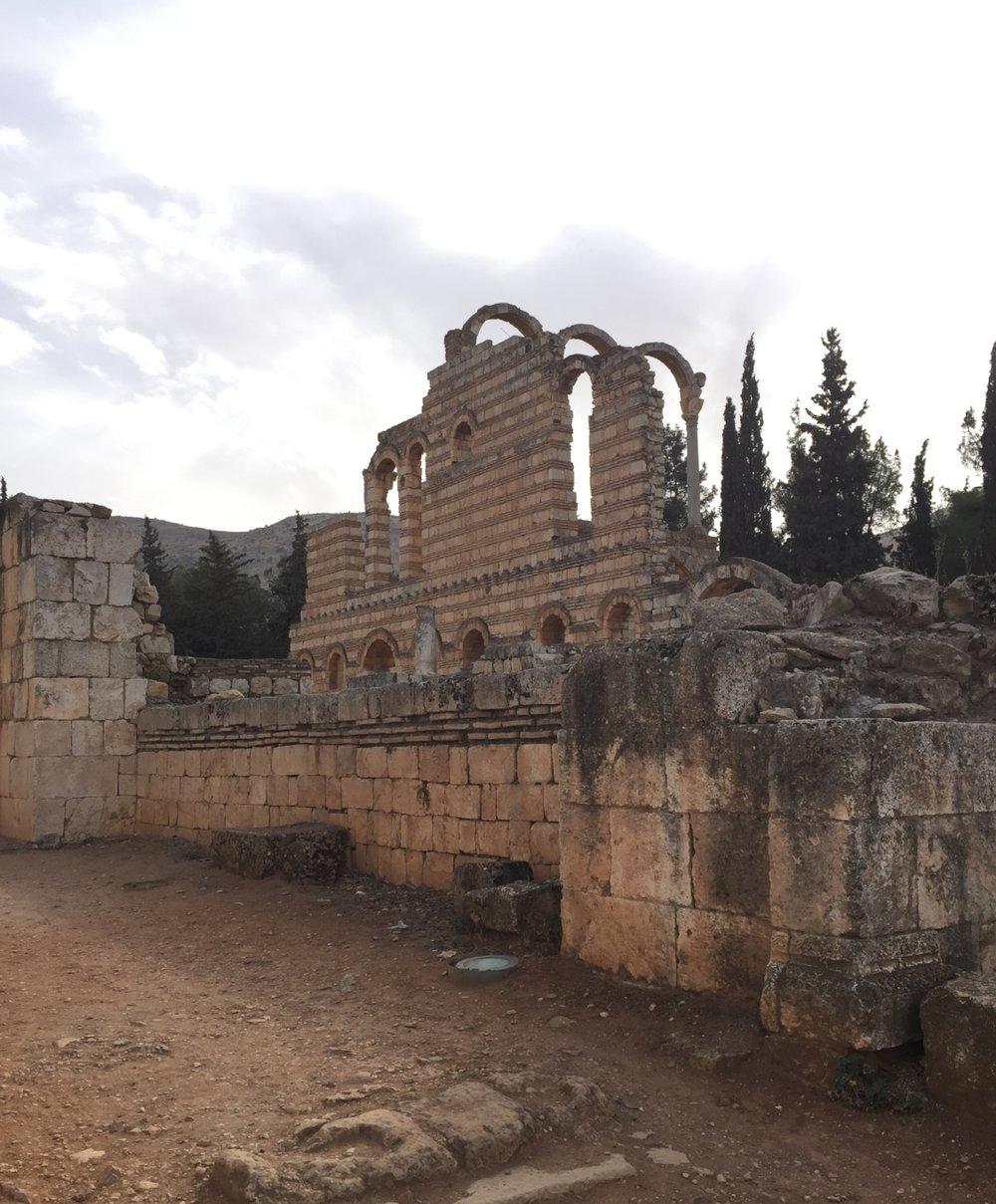 The grand palace of Anjar