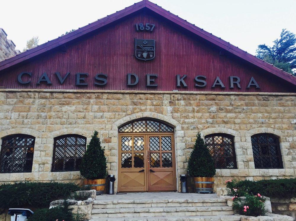 The entrance to Chateau Ksara
