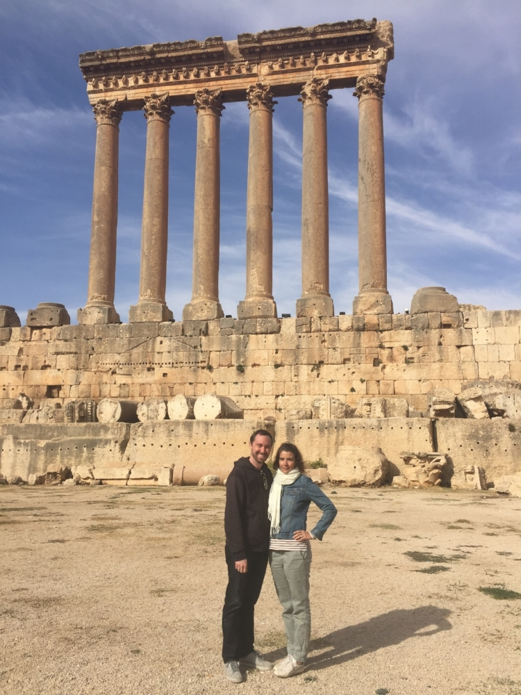 Us at Baalbek, Lebanon