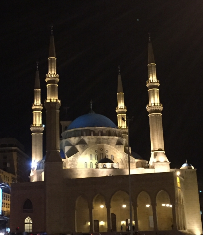 Mohammad Al Amin Mosque at night