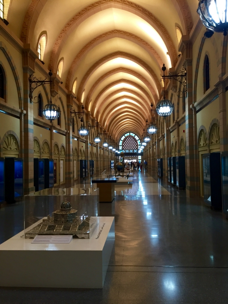 Inside the Sharjah Museum of Islamic Civilization