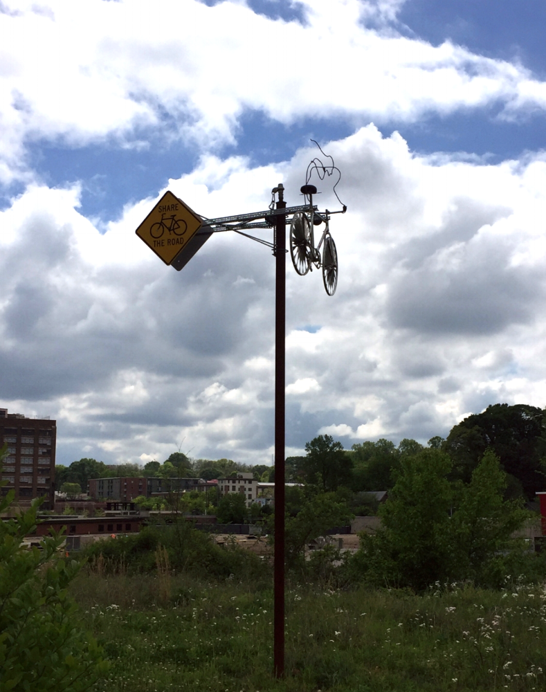 Art display along the Beltline