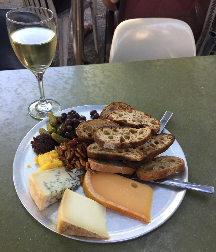 Wine, cheese, and live music!