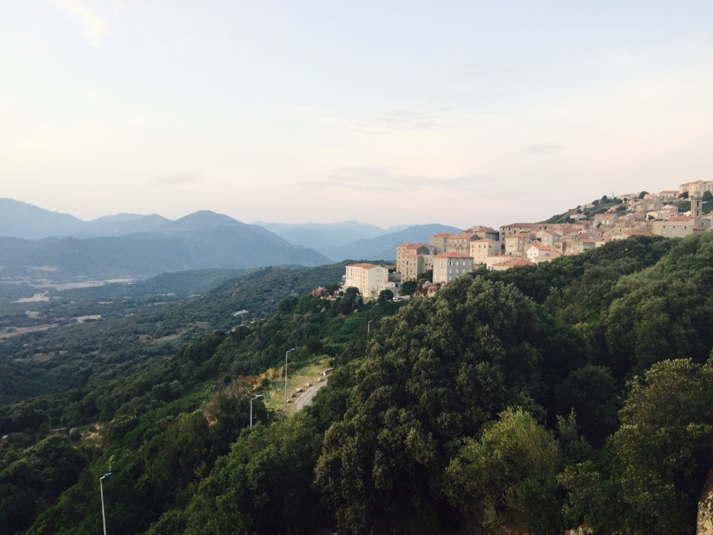 View from our hotel room in Sartene, Corsica
