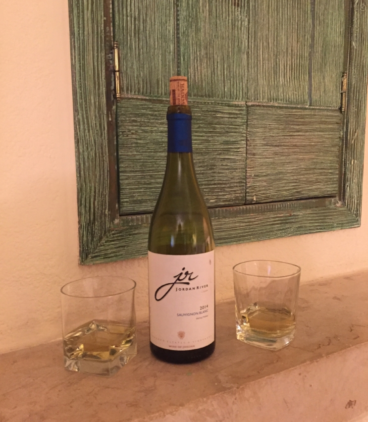 drink local wine in jordan - jordan river