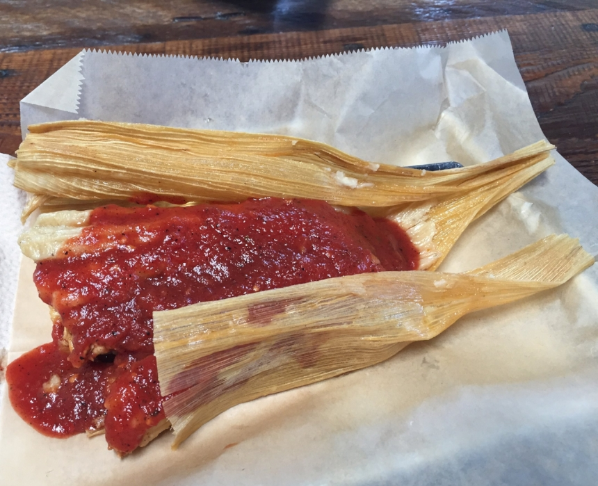 Delicious tamale at Fieldwork!