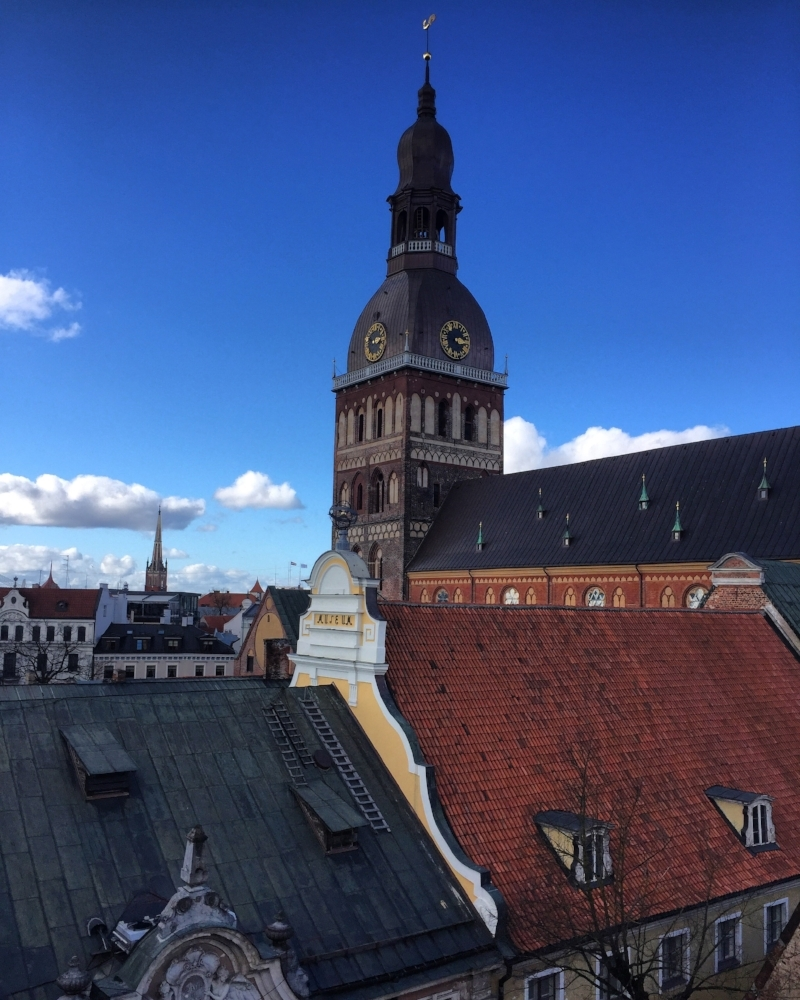 The view from our room. Riga, front and center.