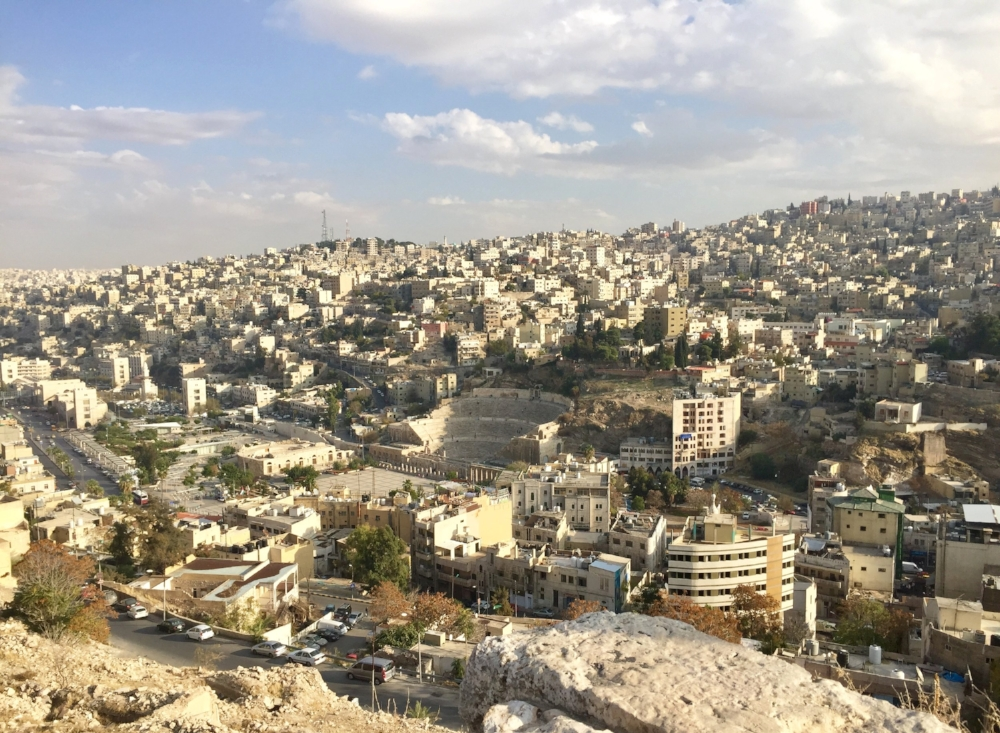 Amman's amphitheater is surrounded by modern development, all built to accommodate the city's ever growing population