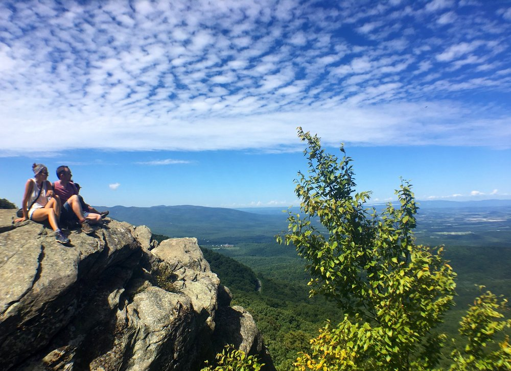 Look at that view from atop Humpback Rocks virginia