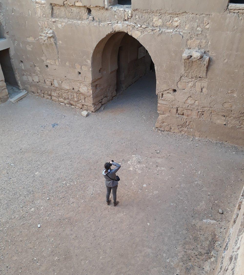 the courtyard inside kharanah castle jordan