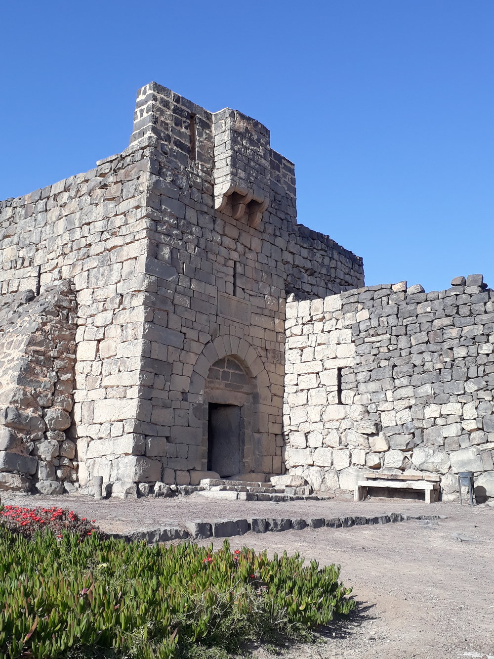 Entrance to Azraq Castle Jordan