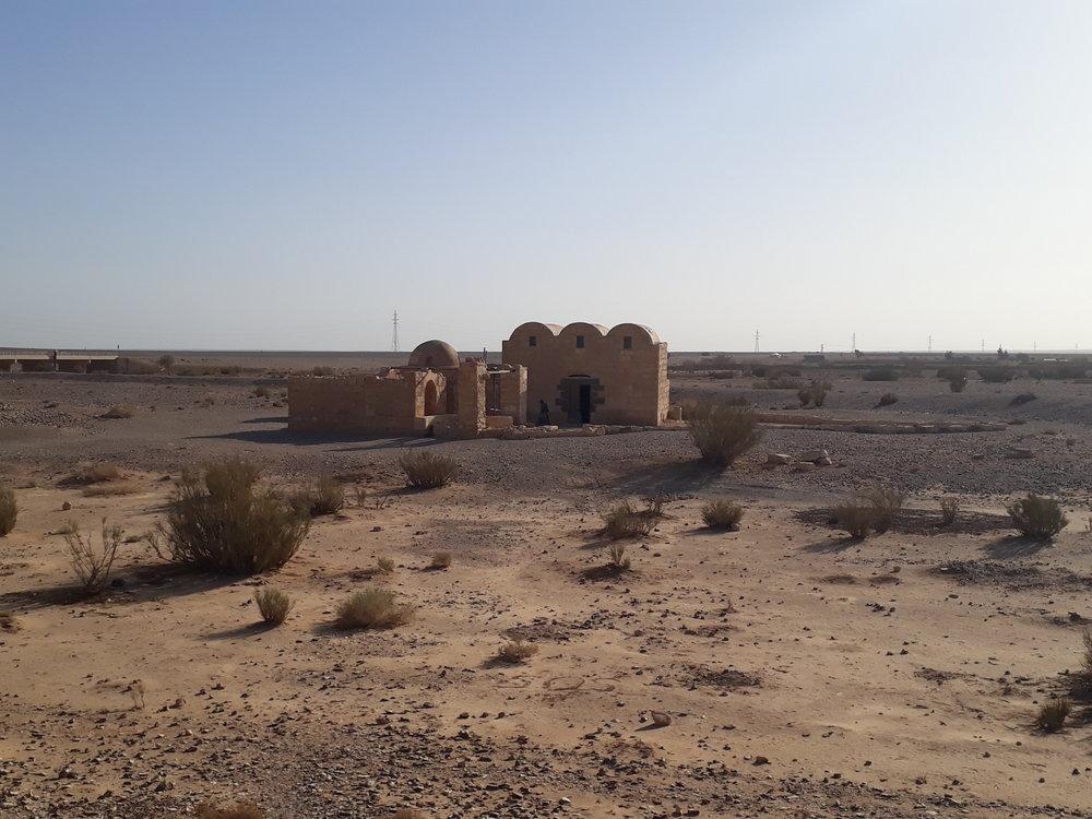 Amra Castle sits on an empty plain