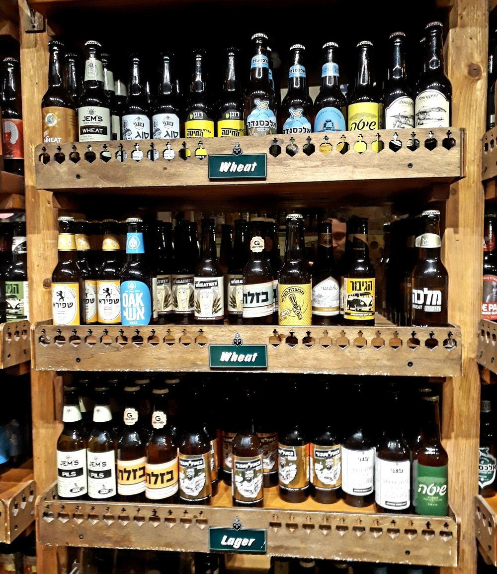 BeerBazzar has a huge selection of craft beer from across Israel