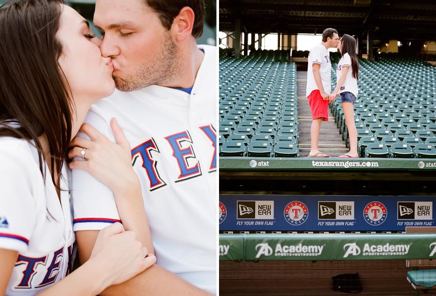 Texas.Rangers.Baseball.Stadium.Engagement.Photography