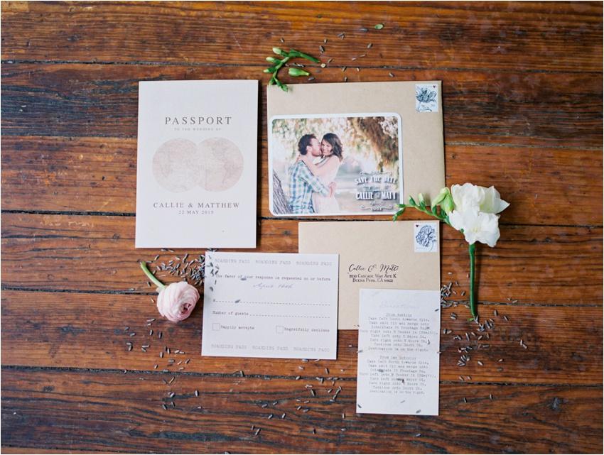 Passport wedding invitation - by Krystle Akin