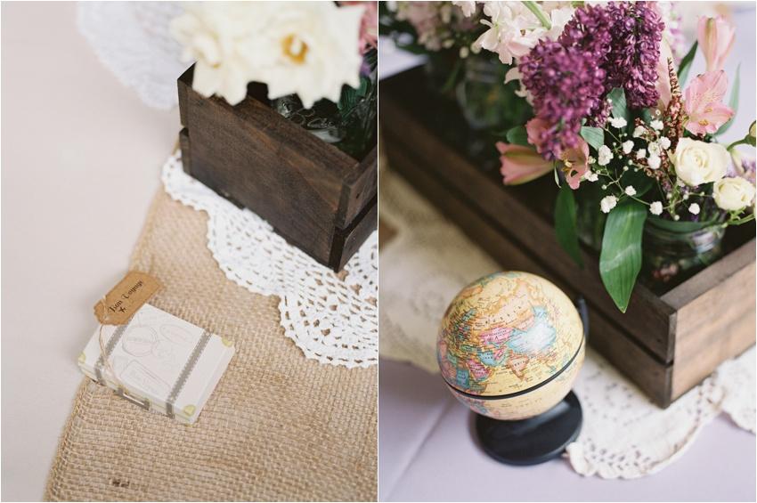 Travel themed wedding - By Krystle Akin