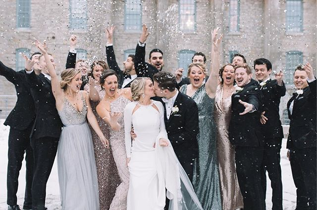 Ringing in 2019 with the SQUAD! (And some glitter and confetti) 🎉 #NYEwedding ... The talented team: Venue | @machineshopmpls  Catering | @damicocatering Cake | @angelfoodmn  Floral |  @studiocfloral Balloons | @andonballoonsandsigns Photography | @gracevo Videography | #jaykeastle Hair |  @paigenicole_lefevre  Makeup | @aliciareickyboss Coordination| @lainepalmplanning Entertainment | #brentjfarber Rentals |  @phosevents + @lineneffects + @timeintopixels Second shooter | @_ivychristina ... #weddings #gracevphoto #mnbride #mnphotographer #mnwedding #fall #love #fun #sweet #airy #film #minnesota #couples #theknot #bride #happy #travel #thatsdarling #joy #yay  #midwestbride #inspired #happiness #minnesotabride #realcouples #light #machineshopmpls
