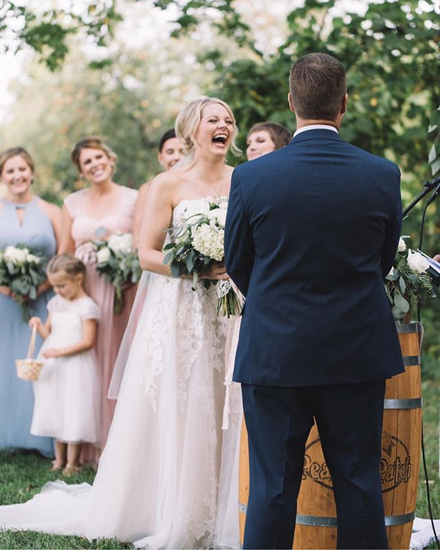 Pausing a moment in time and capturing unscripted reactions are my favorite. #weddings #gracevphoto #mnbride #mnphotographer #mnwedding #fall #love #fun #sweet #airy #film #minnesota #couples #theknot #bride #happy #allthefeels #travel #thatsdarling #joy #yay  #midwestbride #inspired #happiness #realcouples #light #ceremony