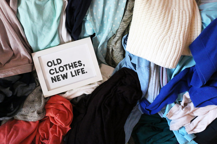 Old clothes, new life.