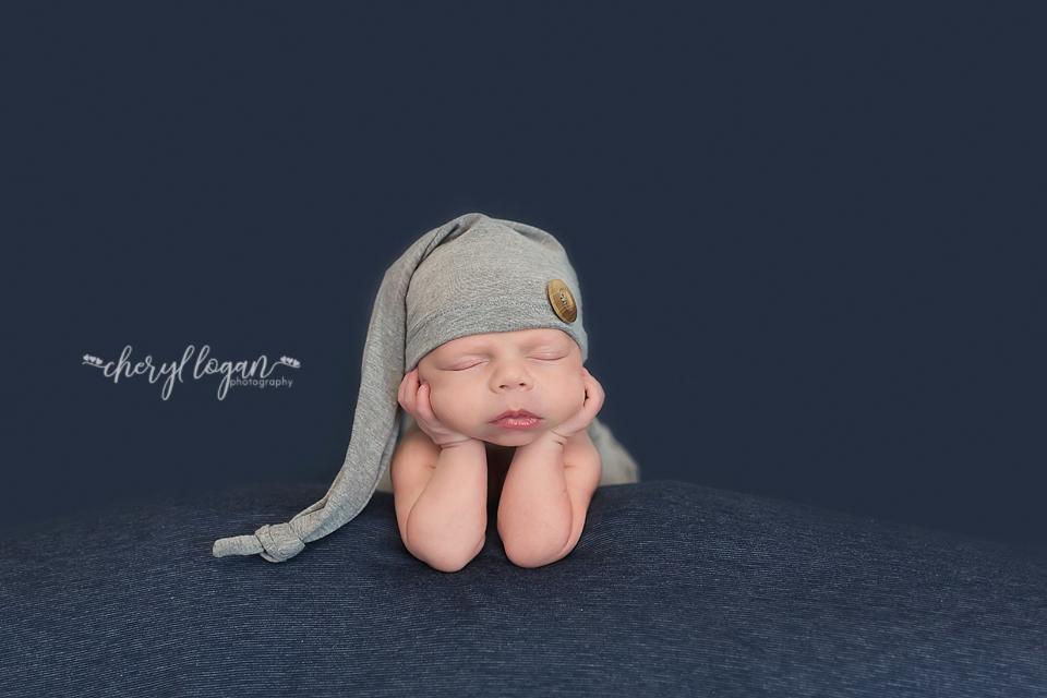 Newborn Boy Navy and Grey