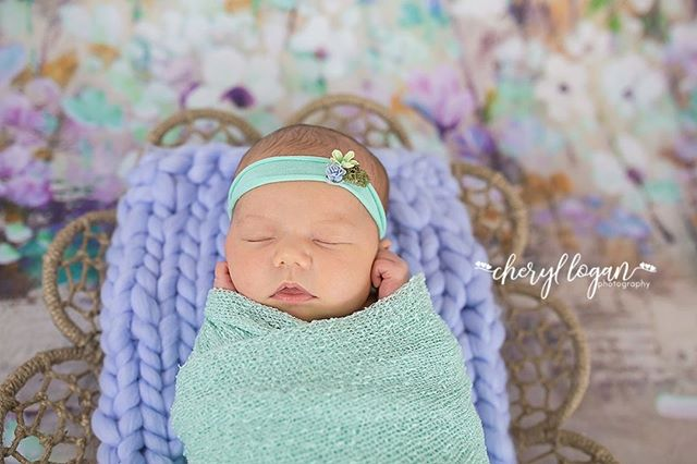 I love the colors from this session! The lavender and mint really come together beautifully! I love it when clients let me get creative!