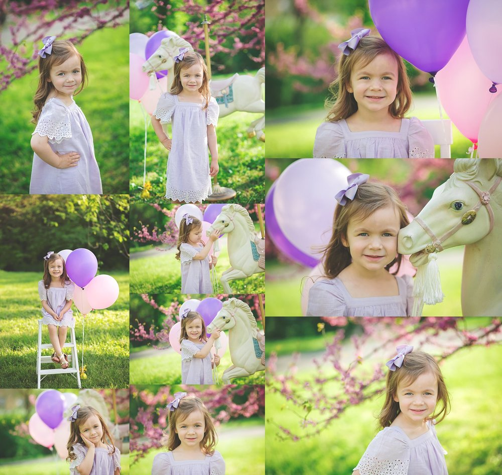 4 Year Old carousel Portraits Cheryl Logan Photography