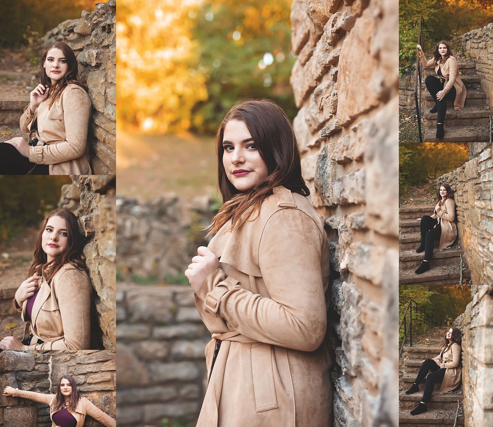 Trench Coat Senior Girl